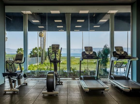 Sea of Galilee Hotel | Gym with view