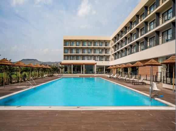 swimming pool in sea of galilee hotel